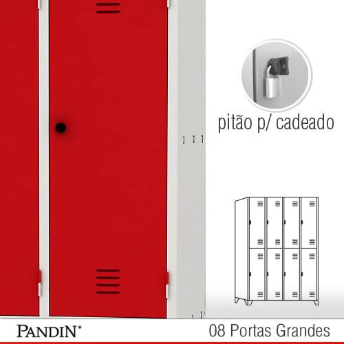 Roupeiro de a o 8 portas gpd26cc for Armario vestiario 8 portas