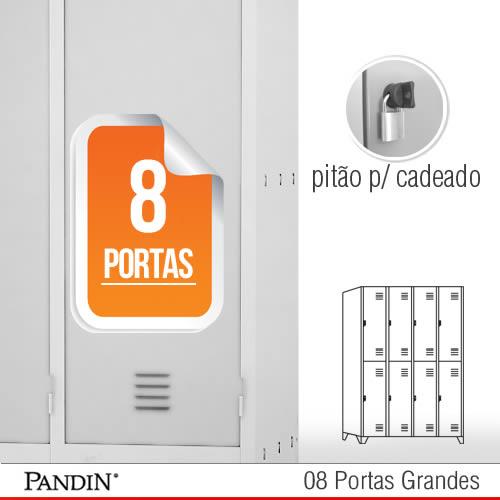 Roupeiro de a o 8 portas gpd26c for Armario vestiario 8 portas